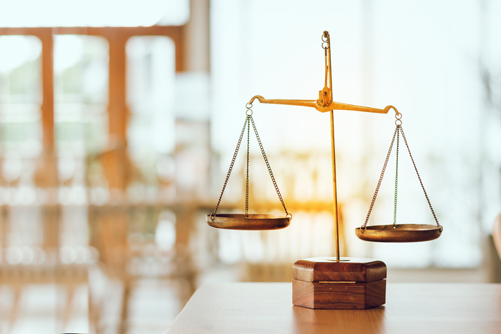 iStock image of scales of justice
